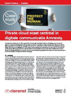 Case study Amnesty International