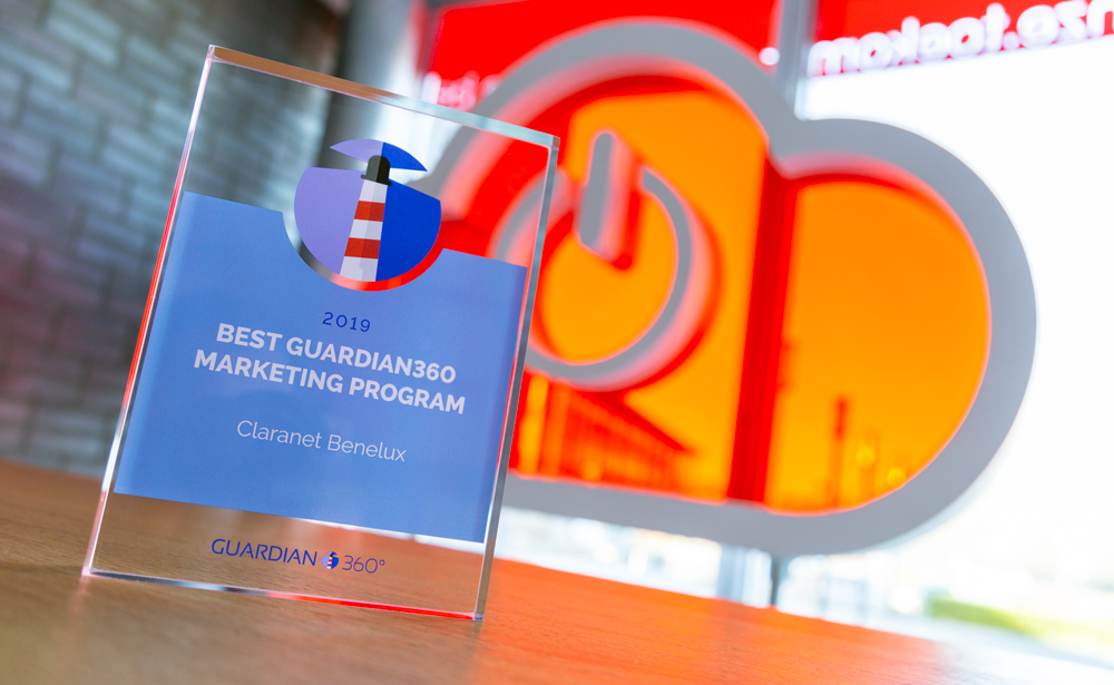 Best Guardian360 Marketing Program Award Claranet