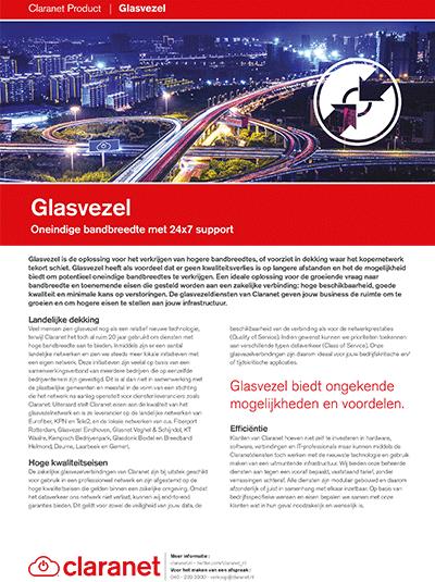 Product leaflet Glasvezel