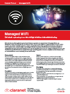 Product leaflet Managed WIFI