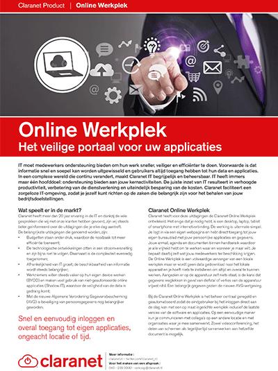 Product leaflet Online Werkplek