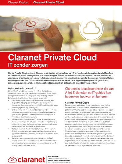 Product leaflet Private Cloud